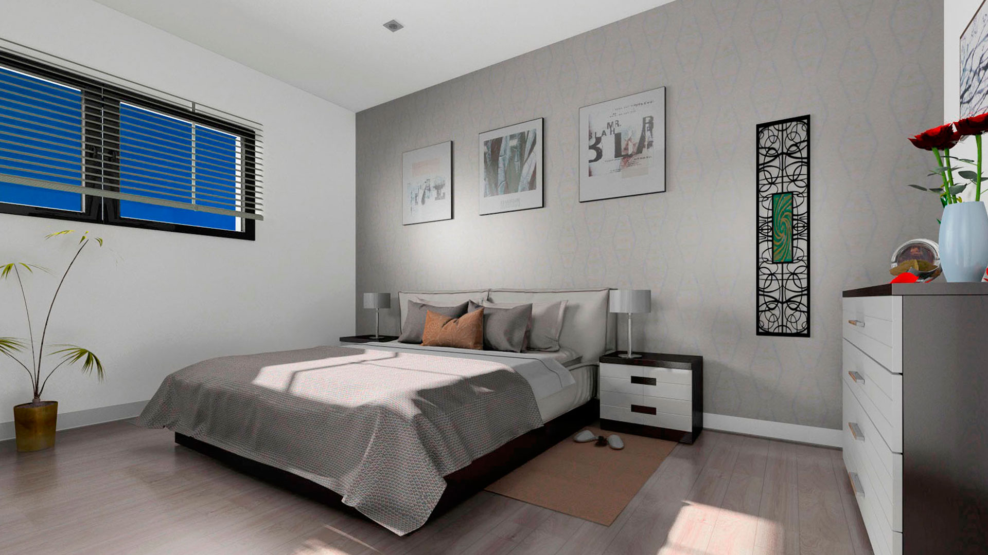 Chalet pareado diseño torremolinos dormitorio matrimonio
